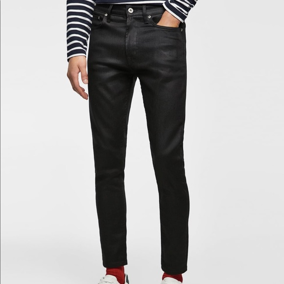 Zara Jeans Man Wax Black Skinny Fit 31 Poshmark